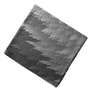 Silver Grey Tartan Feather Pattern Bandana