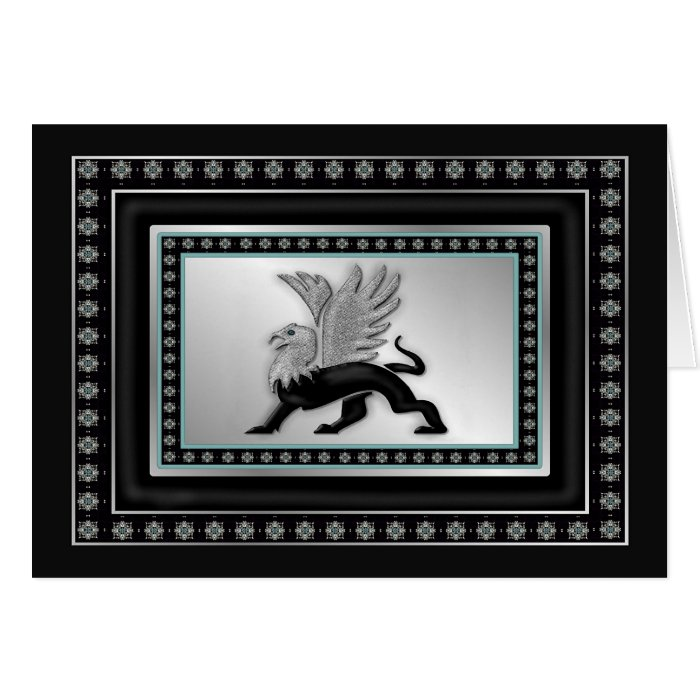 Silver Griffin Greeting Card