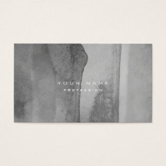 Silver Grungy Monochrom Cement Wall Gray Minimal Business Card
