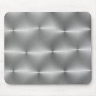 silver handbrushed mouse pad