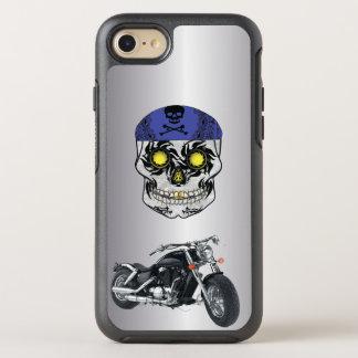 Silver Harley Biker Candy Skull phone Case