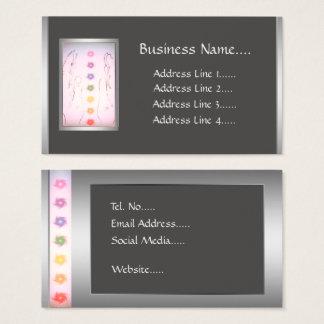 Silver Healing Hands Holistic design Business Card