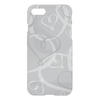 Silver heart pattern iPhone 8/7 case