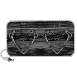 Silver Heart Travelling Speakers