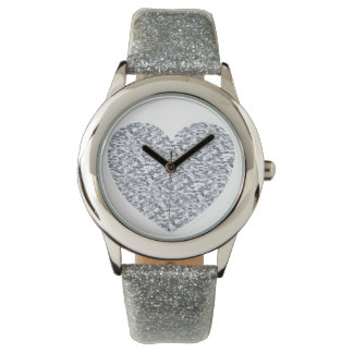 Silver heart watches