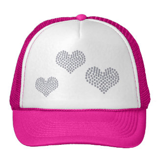 Silver Hearts Hat