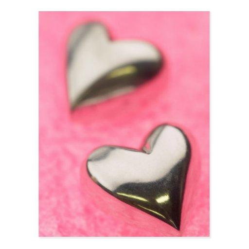 Silver Hearts Postcard