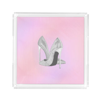 Silver Heels Pastels Acrylic Tray