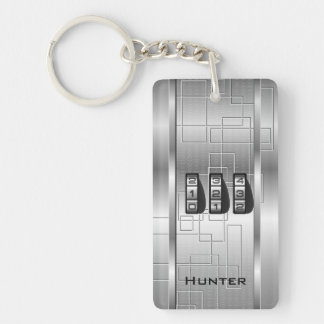 Silver Hi-Tech Code Locker Key Ring