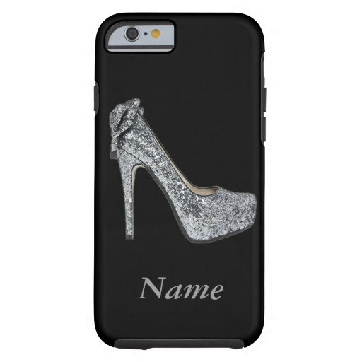 Silver High Heels add Text iPhone 6 Case
