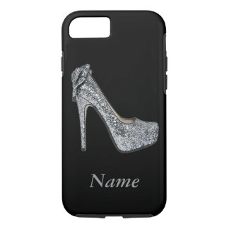 Silver High Heels add Text iPhone 7 Case