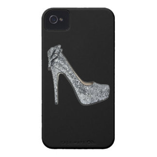 Silver High Heels Customize add Text iPhone 4 Cases