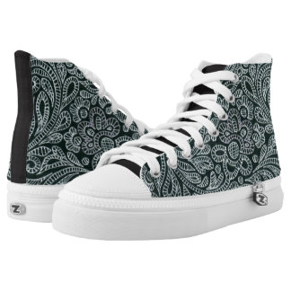 silver high tops