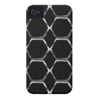 Silver honey cell background Case-Mate iPhone 4 cases