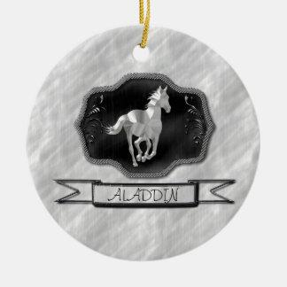 Silver Horse Christmas Ornament