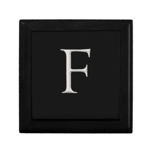 Silver Initial Gift Box
