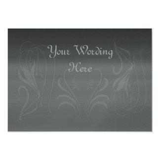 Silver Invitation Card