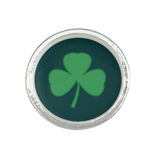 Silver Irish Shamrock Clover Ring Gift