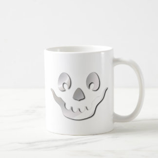 Silver JackOLantern Face Basic White Mug