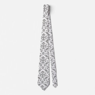 Silver Jacquard Tie