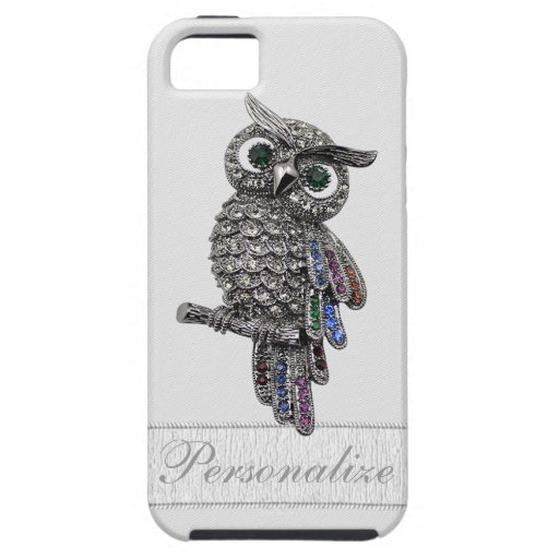 Silver Jewels Owl Photo Print iPhone 5 Cover