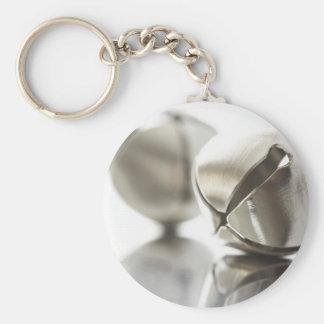 Silver Jingle Bells Key Ring