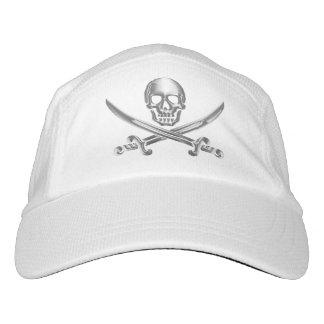 Silver Jolly Roger Hat