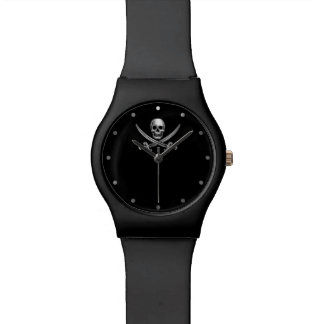 Silver Jolly Roger Watches