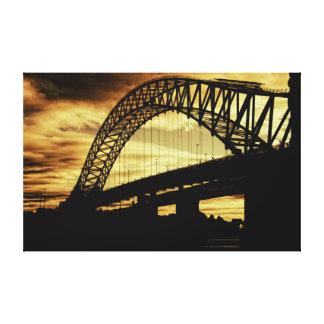 Silver Jubilee Bridge Stretched Canvas Prints
