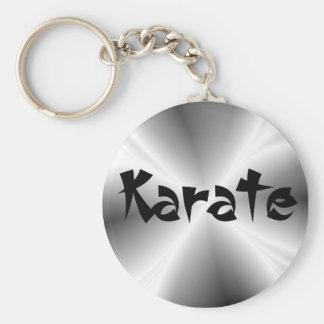 Silver Karate Keychain