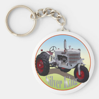 Silver King Tractor Key Ring