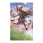 Silver Knight with a Magical Horse Gallery Wrap Canvas