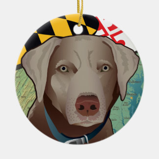 Silver Lab Retriever of Maryland Christmas Ornament