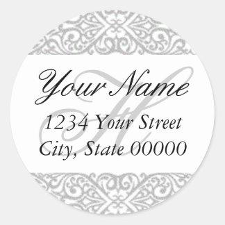 Silver Lace Address Sticker