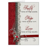 Silver Lace and Vintage Red Damask