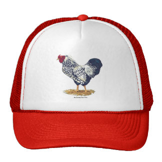 Silver Laced Wyandotte Rooster Cap