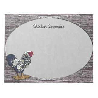 Silver Laced Wyandotte Rooster Notepads