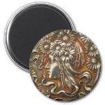 Silver Lady Art Nouveau Vintage Costume Jewellery