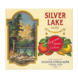 Silver Lake Orange LabelLemon Cove, CA Canvas Print