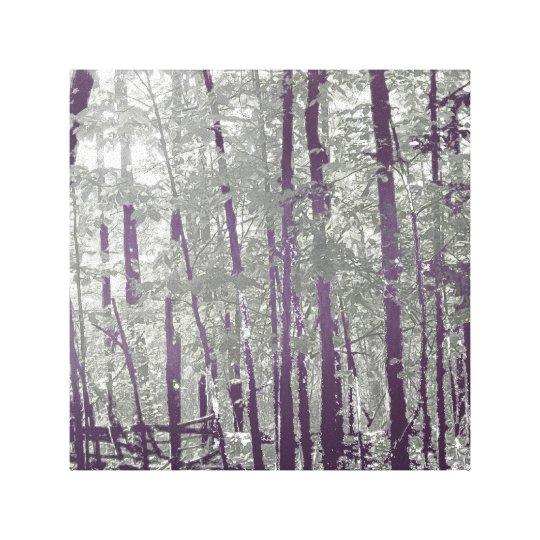 Silver Lapis Twilight Woods Canvas Print