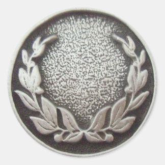 Silver Laurel Wreath Sticker