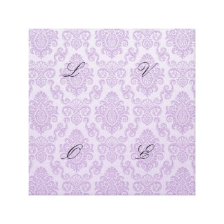 silver,lavender,chic,damasks,floral,lace,pattern,v gallery wrapped canvas
