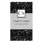 Silver Leopard Pack Of Standard Business Cards