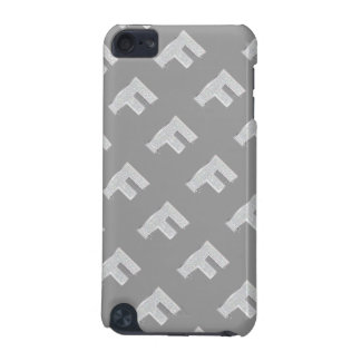 Silver Letter F iPod Touch (5th Generation) Cases