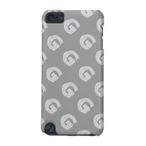 Silver Letter G iPod Touch 5G Cases