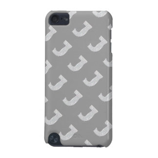 Silver Letter J iPod Touch 5G Cover