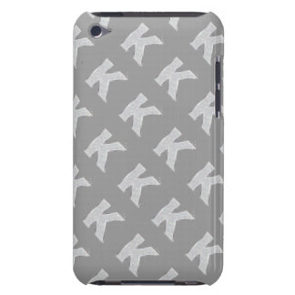 Silver Letter K iPod Touch Cover