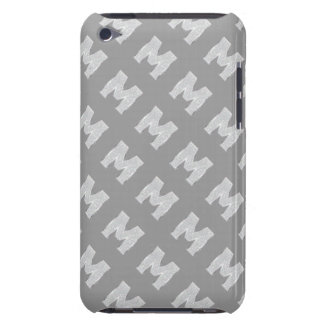 Silver Letter M iPod Case-Mate Case