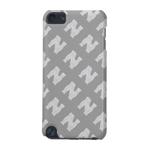 Silver Letter N iPod Touch (5th Generation) Case
