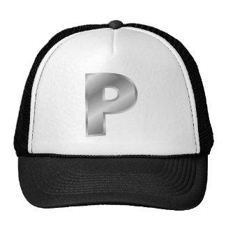 Silver Letter P Mesh Hat